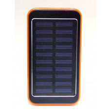 зарядка портативная Power Bank+2USB+солнечная батарея+фонарик EK-8 16800 mAh