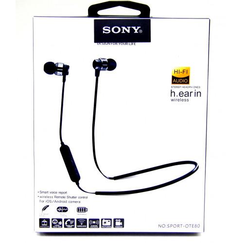 наушники беспроводные SONY+Bluetooth+микрофон SPORT OTE-80