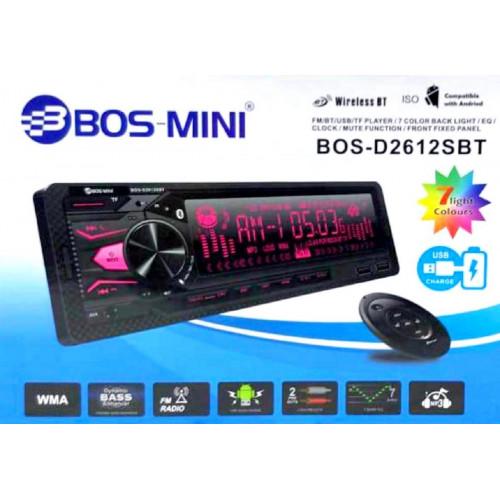 автомагнитола+Bluetooth+USB+AUX+Радио BOS-D2612SBT
