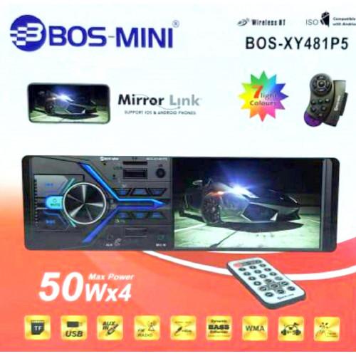 автомагнитола 4,1 дюйм MP5+Bluetooth+USB+AUX+Радио BOS-XY481P5