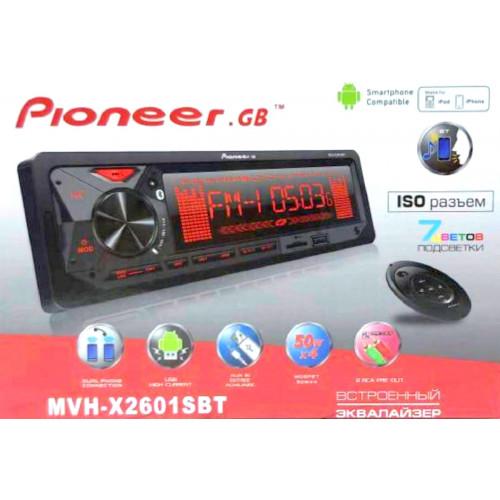 автомагнитола+Bluetooth+USB+AUX+Радио MVH-X2601SBT