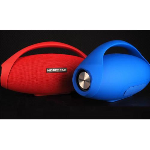 колонка HOPESTAR H31+Bluetooth+USB+SD+радио+4 динамика+аккумулятор+Power Bank+беспроводная зарядка (оригинал)