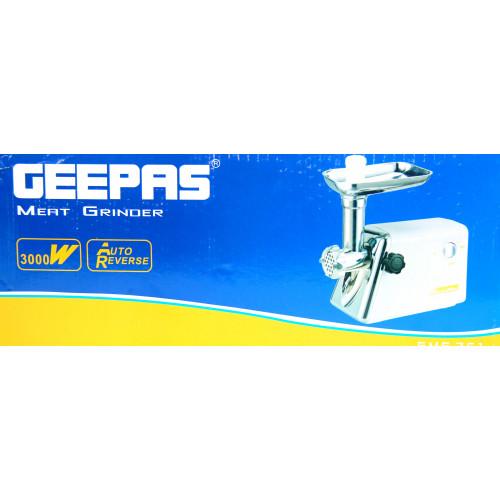мясорубка электрическая Geepas с обратным реверсом, мощность 3000w GMG-761