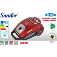 пылесос Sonifer, вместимость контейнера для пыли 3.0л, мощность 2600w, контр.скорость SF-2220