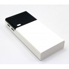 зарядка портативная Power Bank 2USB кожанный 12000 mAh (MM17830-68)