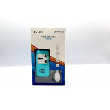 сетевой удлинитель на 1 розетку и  2 USB входа на 2.1A (MM-17830-91)