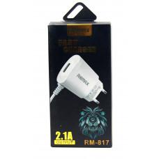 розетка 1 USB+кабель REMAX RM-817