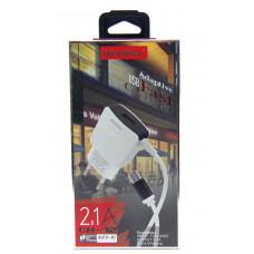 розетка 1 USB+кабель Samsung (Micro) CH-12