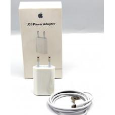 розетка+кабель для Iphone в упаковке (оригинал) USB Power Adapter