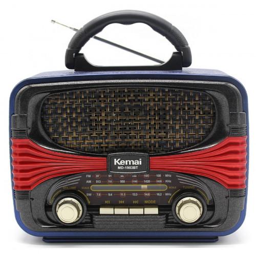 радиоприемник Ретро KEMAI+Bluetooth+USB+SD+аккумулятор MD-1903BT