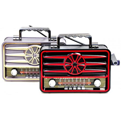радиоприемник Ретро KEMAI+Bluetooth+USB+SD+аккумулятор MD-1906BT