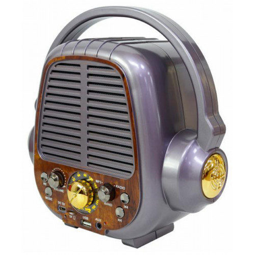 радиоприемник ретро Meier+Bluetooth+USB+SD+аккумулятор M-178BT