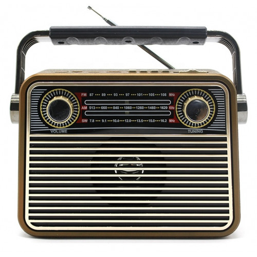 радиоприемник ретро Meier+Bluetooth+USB+SD+аккумулятор M-180BT
