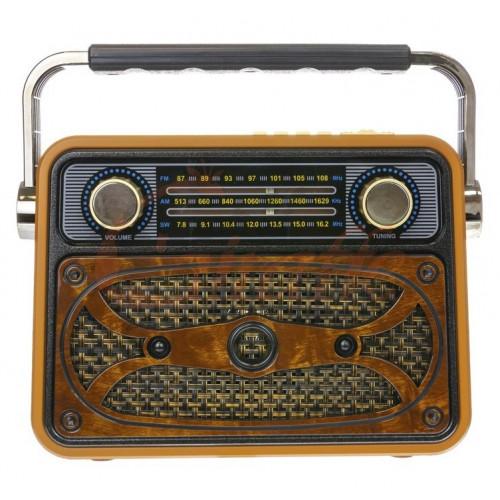 радиоприемник ретро Meier+Bluetooth+USB+SD+аккумулятор M-183BT