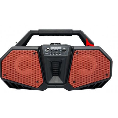бумбокс+Bluetooth+USB+SD+радио+аккумулятор+светомузыка ZQS 4216