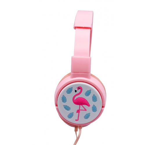 детские проводные наушники KTS-3156 Фламинго