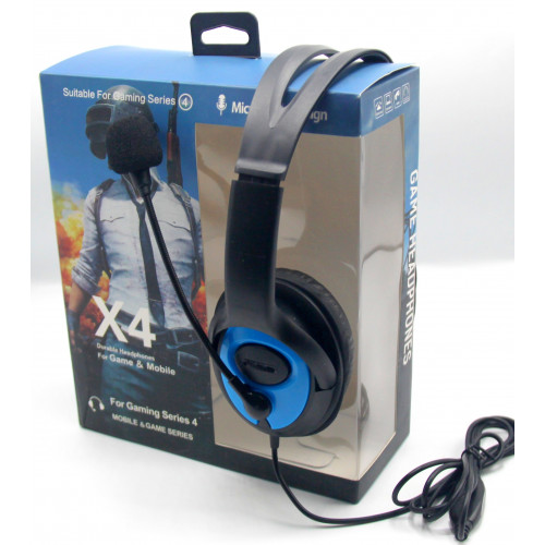 игровые наушники проводные+микрофон X4