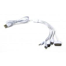 кабель 5в1 длинный, iphone 4+5+6+Micro+Mini+Nokia
