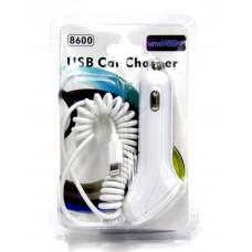 зарядка спираль от прикуривателя для Iphone 5+6+USB AT-5002