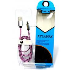 кабель Micro металлический (кожа крокодила) ATLANFA AT- 5011