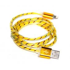 кабель для Iphone 5 6 металлический (светящиеся) ATLANFA AT-5022