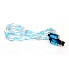 кабель для Iphone 5 6 металлический (радуга) ATLANFA AT-5024