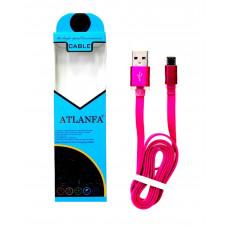 кабель Micro металлический (плоский) ATLANFA AT-713V