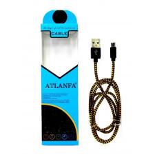 кабель Micro металлический (тряпочный) ATLANFA AT-714V