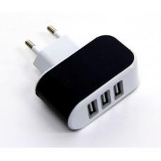 розетка 3 USB, 2.1A (D12)