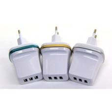 розетка 3 USB, 2.1A (D4)