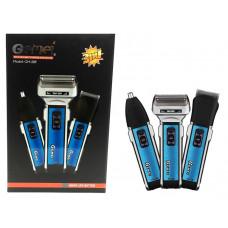 машинка для стрижки волос 3в1 съемный аккумулятор Gemei GM-589