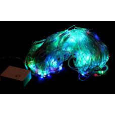 гирлянда прозрачная (светодиодная) сетка 160 лампа LED-8020