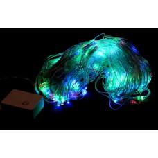 гирлянда прозрачная (светодиодная) сетка 200 лампа LED-8021