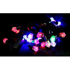 гирлянда черная (фигурки) 40 лампа LED-8024