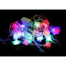 гирлянда прозрачная (фигурки) 30 лампа LED-8028