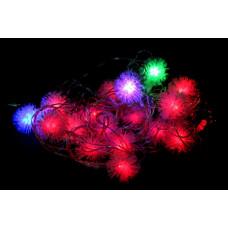 гирлянда прозрачная (фигурки) 30 лампа LED-8029