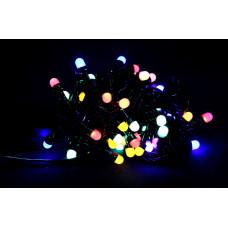 гирлянда черная (шарики, 4 цвета) 100 лампа LED-8030