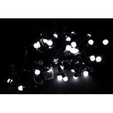гирлянда черная (шарики, белые) 100 лампа LED-8032