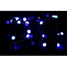 гирлянда черная (шарики, синие) 100 лампа LED-8033