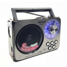 радиоприемник Meier+USB+SD+фонарик+аккумулятор M-U07