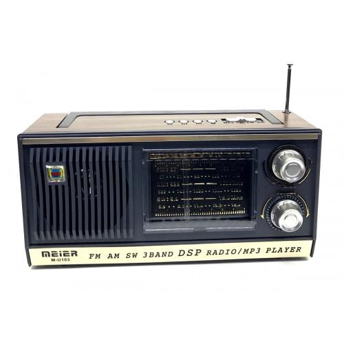 радиоприемник ретро Meier+USB+SD+аккумулятор M-U103