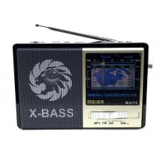 радиоприемник Meier+USB+SD+фонарик+аккумулятор M-U116