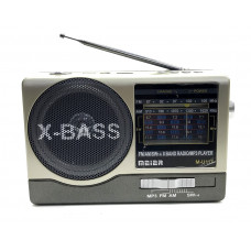 радиоприемник Meier+USB+SD+фонарик+аккумулятор M-U117