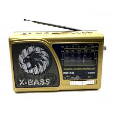 радиоприемник Meier+USB+SD+фонарик+аккумулятор M-U118