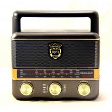 радиоприемник Meier+USB+SD+аккумулятор M-U125