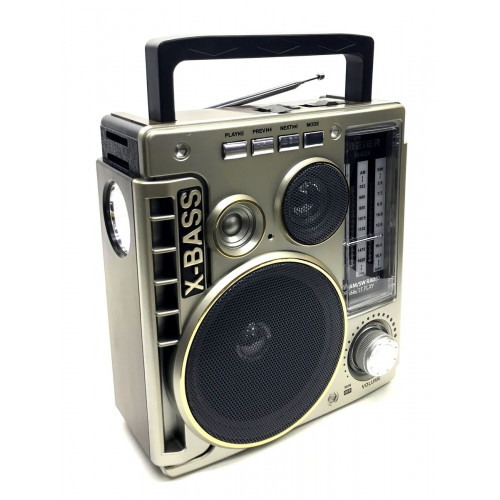 радиоприемник Meier+USB+SD+фонарик+аккумулятор M-U26