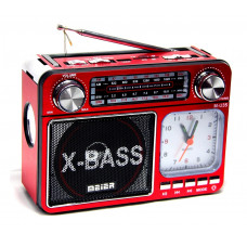 радиоприемник Meier+USB+SD+фонарик+часы+аккумулятор M-U35