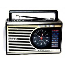 радиоприемник Meier+USB+SD+фонарик+часы+аккумулятор M-U41