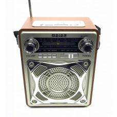 радиоприемник Meier+USB+SD+пульт+аккумулятор M-U77