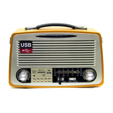 радиоприемник Ретро KEMAI MD-1700BT Bluetooth USB SD аккумулятор